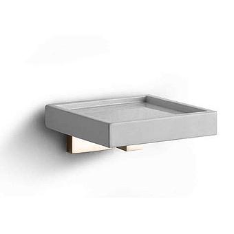 Bertocci Settecento Мыльница подвесная, цвет: белый матовый композит/nichel mat