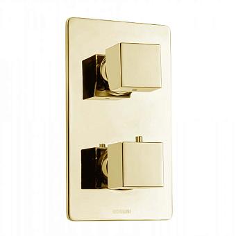 Bossini Cube Термостат для душа, встраиваемый, с девиаторм 1/2/3/4/5, цвет: золото