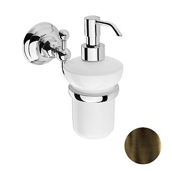 Nicolazzi Classica Дозатор для жидкого мыла, цвет: тёмная бронза/белый