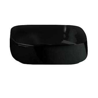 Artceram Cognac Раковина Quadro 55x35 см, без отв., накладная, цвет: матовый черный