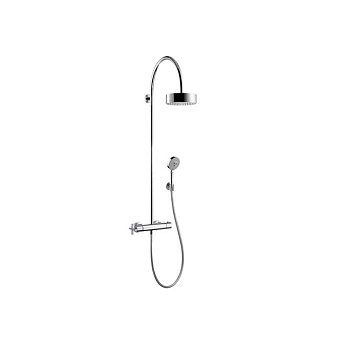 Axor Citterio, Showerpipe с термостатом и верхним душем, Цвет: хром