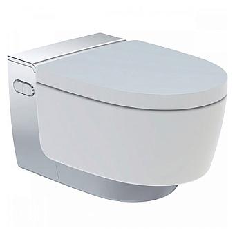 Geberit AquaClean Mera Comfort Подвесной унитаз-биде 59х36см, цвет: глянцевый хром