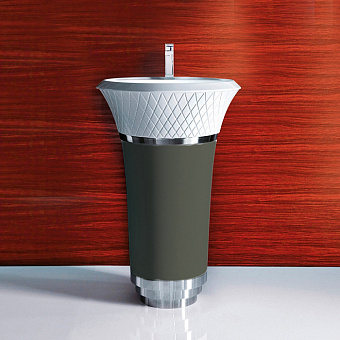 Falper George Раковина напольная 58х58х87 см, выпуск в стену, цвет: грязь