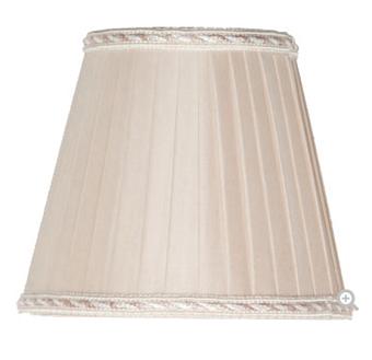 TW 14, абажур для светильника E14, цвет ткани: крем с кантом