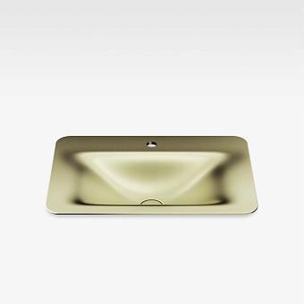 Armani Roca Baia Раковина 66x47 см, 1 отв., встраиваемая сверху, со скр. переливом, цвет: shagreen matt gold