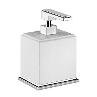 Gessi Eleganza Дозатор для жидкого мыла настольный, цвет: хром/белый