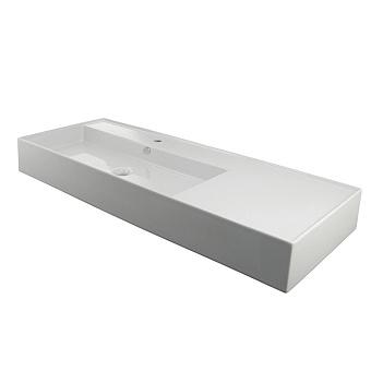 Noken Essence C Раковина 120х45 см, 1 отв., подвесная, SX, слив-перелив, цвет: белый