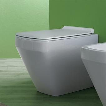 Simas Baden Baden Унитаз приставной безободковый 56х36 см, слив универсальный,  цвет белый