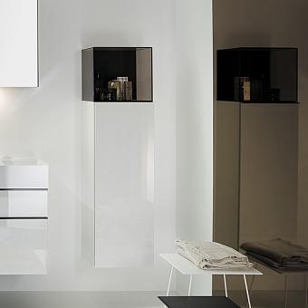 Burgbad Yumo Шкаф подвесной 35x32x128 см, цвет белый