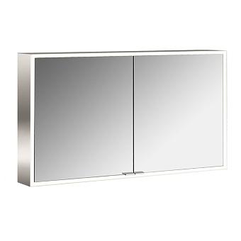 Emco Asis prime Зеркальный шкаф 1200х152хh700 мм, навесной, 2 дверки, 2 стекл.полки LED-подсветка сенсорн., розетка, боковые панели зеркало