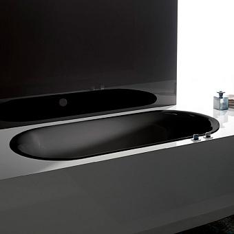 BetteLux Oval Ванна встраиваемая овальная с шумоизоляцией 180x80x45 см, цвет черный матовый 035