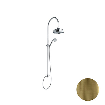 Nicolazzi Doccia Душевая стойка с верхним душем Ø 20см, цвет: бронза