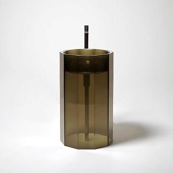 Antonio Lupi Vitreo Раковина напольная, без отв. под смеситель, слив в пол, цвет: Nebbia