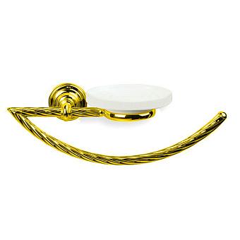 StilHaus Giunone Полотенцедержатель + мыльница, подвесной монтаж, цвет: золото/керамика