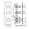 Zucchetti Jingle Встроенный термостатический смеситель с 2 запорными клапанами, цвет: хром
