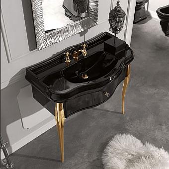 Kerasan Retro Консоль с черной раковиной 100 см, цвет: neco/oro
