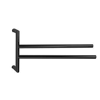 3SC Guy Полотенцедержатель двойной, поворотный, плечо 35см, цвет: черный матовый