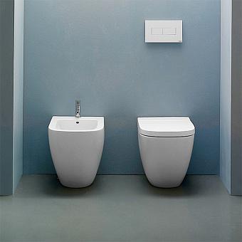 GLOBO Stockholm Унитаз напольный пристенный  51х37хh42см, слив универсальный, с комплектом креплений, цвет: белый