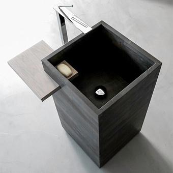 Karol Free Design Раковина 45x45х84 см, со сливом в пол, цвет: Florence Grey