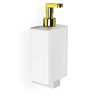 Stilhaus Gea Дозатор с прямым носиком, цвет: золото/белая керамика