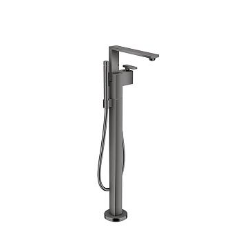 Axor Edge Смеситель для ванны, напольный, с ручным душем, излив 255мм, цвет: черный
