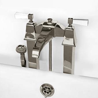 Devon&Devon Vip Time Смеситель для ванны, цвет: никель сатинированный/белый хрусталь