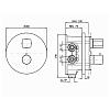 Zucchetti Jingle Встроенный термостатический смеситель для душа, с запорным клапаном, для системы Zeta, цвет: хром