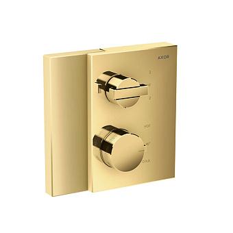 Axor Edge Смеситель для душа, встраиваемый, термостат, на 2 источника, с запорным вентилем, цвет: золото