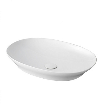 TOTO Neorest Раковина полувстраиваемая 600x420x117 мм, без отв., CeFiONtect, LinearCeram, цвет: белый