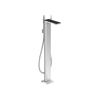 Axor MyEdition Смеситель для ванны напольный, на 1 отв., излив 245мм, цвет: хром/черное стекло