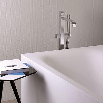 Cristina Quadri Смеситель для ванны с ручным душем, напольный, цвет: хром