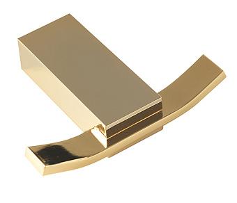 Stilhaus Gea Крючок двойной, цвет: золото