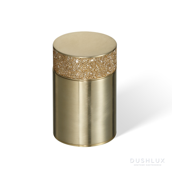 Decor Walther Rocks BMD1 Баночка универсальная 6.5x9.8см, с кристаллами Swarovski, настольная, цвет: золото матовое