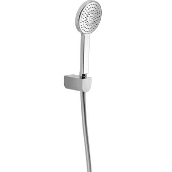 HUBER Shower Душевой гарнитур:ручная лейка d105 мм,шланг 150 см,держатель настенный для лейки, цвет хром