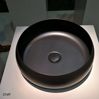 BETTECraft  Раковина-чаша 35х35х12 cм, без отв., на столешницу, круглая, без перелива, цвет: черный матовый 400