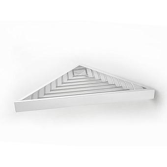 3SC SK Полочка-решетка 36х18хh3см, угловая, цвет: белый матовый