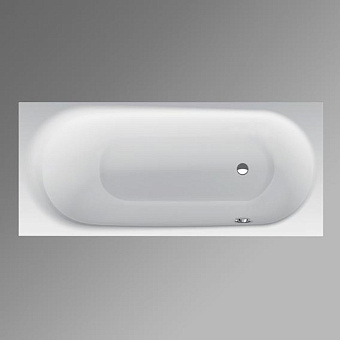 BETTE Comodo Ванна встраиваемая 170х75х45 с шумоизоляцией, область ног ванны справа, перелив спереди (для удлиненного слив-перелива), цвет: белый