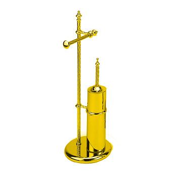 StilHaus Giunone Стойка: ерш + бумагодержатель, напольная, цвет: золото
