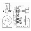 Zucchetti Closer Встроенный термостатический смеситель 1/2, цвет: хром