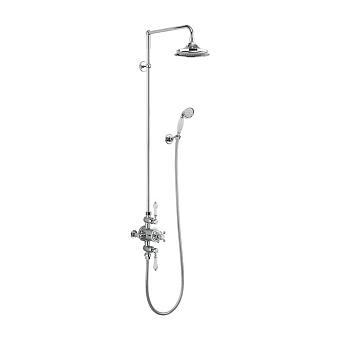 Burlington Avon Душевой комплект внешний, с 2 выпусками, с руч.душем, с верхним душем, цвет: хром