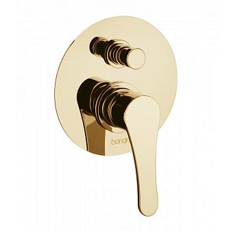 Bongio O'Clock Green, Встраиваемый смеситель для душа, цвет: золото