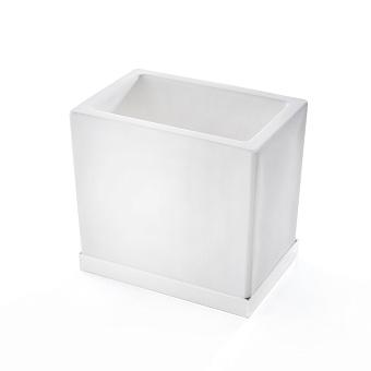 3SC Mood Deluxe Стакан настольный, композит Solid Surface, цвет: белый матовый/белый матовый