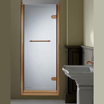 Devon&Devon Savoy Душевое ограждение V70 68-72 см с декоративными элементами, стекло с декором 2T, цвет: золото