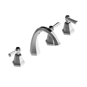 Stella Eccelsa Leve Смеситель на борт ванны на 4 отверстия 3256TR, цвет: хром
