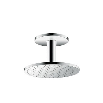 Axor ShowerSolution Верхний душ, Ø 250мм, 1jet, с держателем 100мм, потолочный монтаж, цвет: хром
