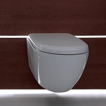 KERASAN Aquatech Унитаз подвесной,безободковый,550х365 мм, цвет белый