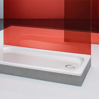 BETTE Supra Душевой поддон 100х100х6.5 см, квадратный, D90 мм, с шумоизоляцией, цвет: белый