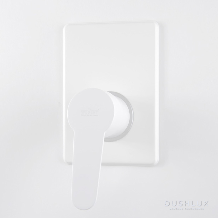 Webert Sax Evolution Смеситель для душа, встраиваемый, 1 отв., цвет: белый матовый