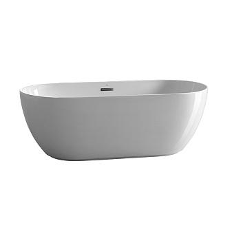 Noken Lounge Ванна овальная 170x75х58см, отдельностоящая, акриловая, цвет: белый / титан
