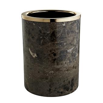 3SC PALACE EM.DARK Ведро, без крышки, D=20/h25 см, цвет: мрамор Emperador dark/золото 24к.